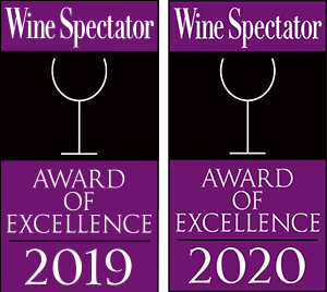 Wine Spectator 2019 and 2020 Awards of Excellence